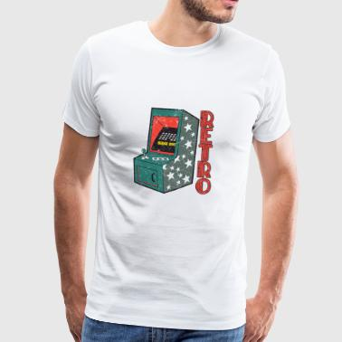 Retro Video Game Machine Juegos - Camiseta premium hombre