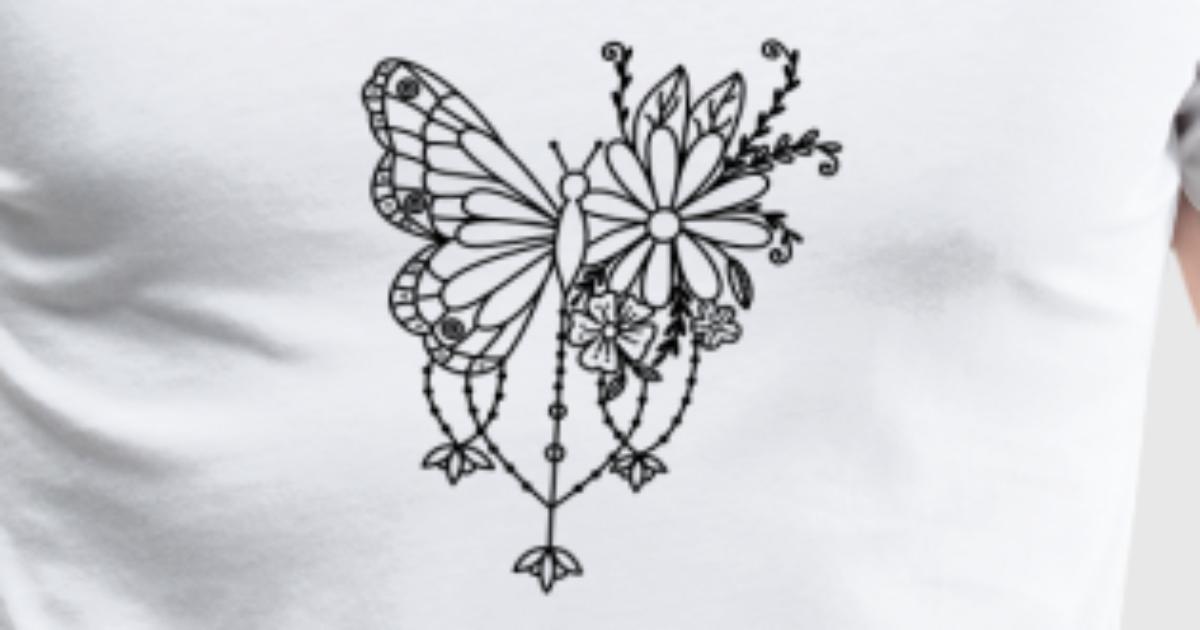 Schmetterling Mandala Blume Geschenk Pflanze Tiere von Oeko97 ...
