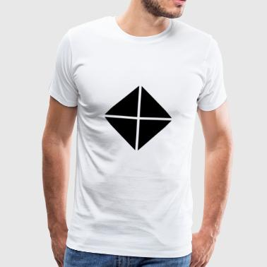 Quatre triangles - carré noir - T-shirt Premium Homme