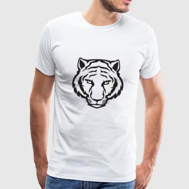 Tiger Cool face Dangerous - Men's Premium T-Shirt