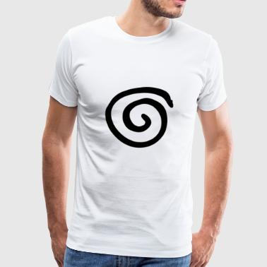 Spirale simple (noir) - T-shirt Premium Homme