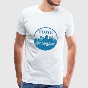 I Love Birmingham - City Break - Gift - Men's Premium T-Shirt