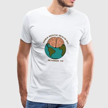Psykolog Internationella Mental Health Day - Premium-T-shirt herr