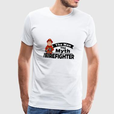 Proud Firefighter - The Man The Myth - Männer Premium T-Shirt