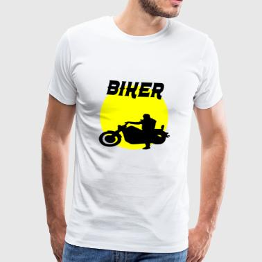 biker sunset - Men's Premium T-Shirt