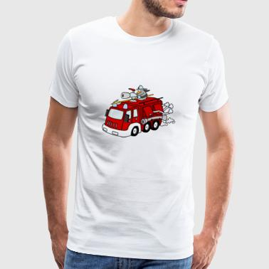 Fire Truck and Jeff the Penguin - Men's Premium T-Shirt