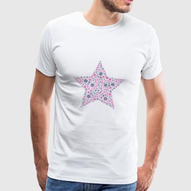 Star filled in with ice crystals - Men's Premium T-Shirt