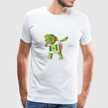 St. Vincent and the Grenadines Dabbing turtle - Men's Premium T-Shirt