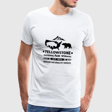 Bison bjørn Yellowstone National Park Wyoming USA - Herre premium T-shirt