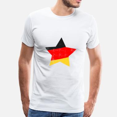 Allemagne Flag Allemagne Flag Allemagne Allemagne star, Allemagne flag, Allemagne - T-shirt Premium Homme