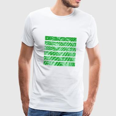 Fern leaves green striped nature cutout - Men's Premium T-Shirt