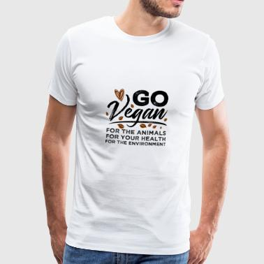 Go vegan for our nature and our animals - Men's Premium T-Shirt