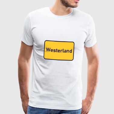 Road sign Westerland town sign - Men's Premium T-Shirt