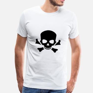 Fools pirate ship boat pirate pirate ship ship skull2 - Men's Premium T-Shirt