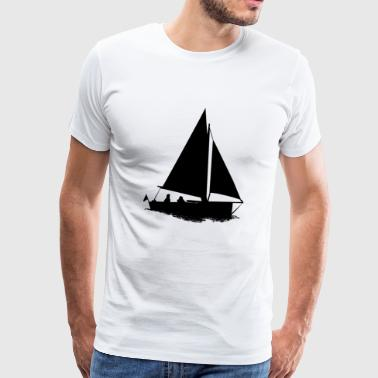 paddle boat sail boat rowing boat sailboat62 - Men's Premium T-Shirt