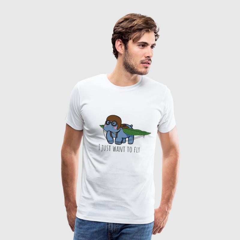Flying Hippo - Men's Premium T-Shirt