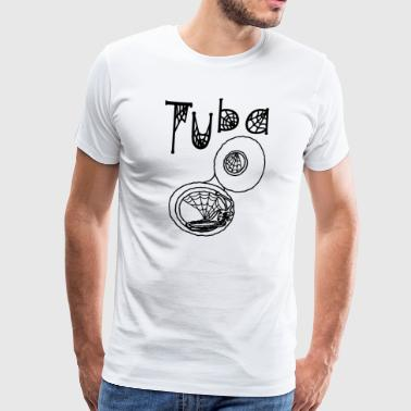 Choir Tuba Halloween Cobwebs - Men's Premium T-Shirt