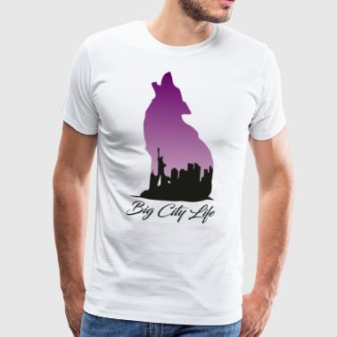 Loup à New York Design - Big City Life - T-shirt Premium Homme