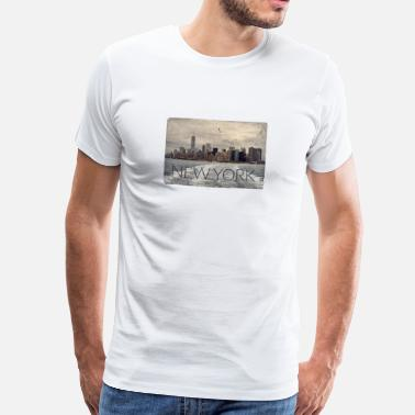 Big Apple New York skjorte. Big Apple. USA. gaveidé - Herre premium T-shirt