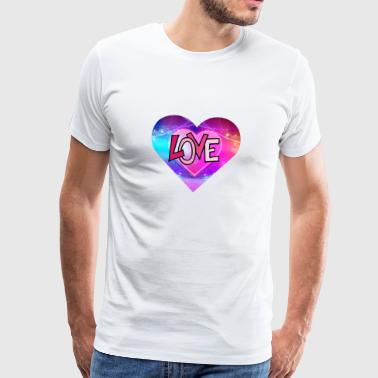 Valentine's Day - romantic heart - Men's Premium T-Shirt