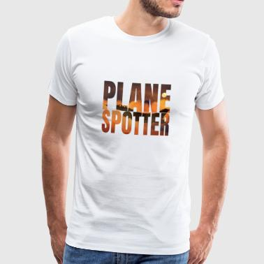 Avion Spotter photo Design Jet de combat Jet - T-shirt Premium Homme