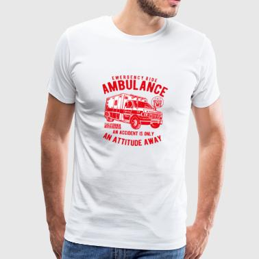 Ambulance Emergency Doctor Rescue Service Shirt Vintage - Men's Premium T-Shirt