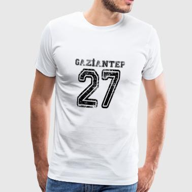 27 Gaziantep Turkish License Plate as a gift - Men's Premium T-Shirt