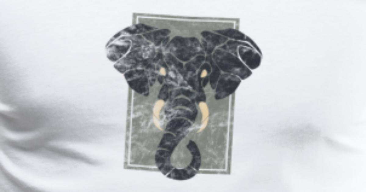 Fantástico Diseño Del Elefante De Uñas Colmillo Festooning - Ideas ...