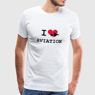 Aviation Love I Love Aviation [Pilot] - Men's Premium T-Shirt
