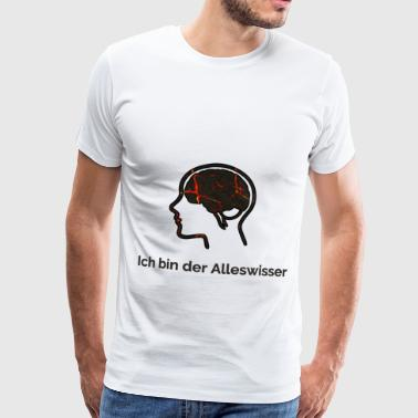 Know-it-all The brain - Men's Premium T-Shirt