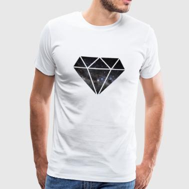 Diamond in Space - Mannen Premium T-shirt