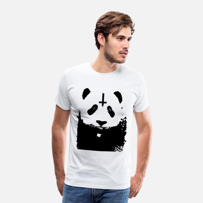 Metal Heavy Metal T-Shirts - Evil Panda - Men's Premium T-Shirt white