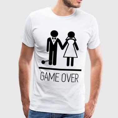 Game over - Stag do - Hen party - Funny - Herre premium T-shirt