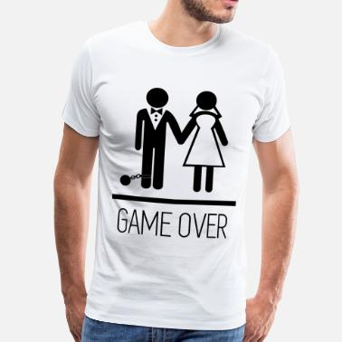 Polterabend Game over - Stag do - Hen party - Funny - Herre premium T-shirt