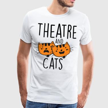 Oper Theatre and Cats - Männer Premium T-Shirt