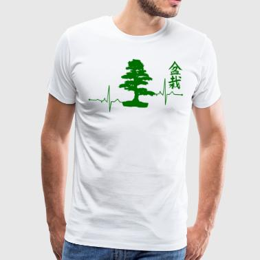 Bonsai Shirt Bonsai Tree ECG T-shirt cadeau - Mannen Premium T-shirt
