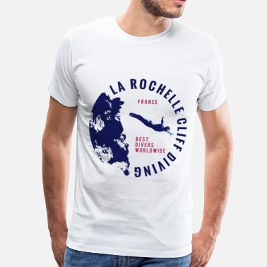 Cliff LA ROCHELLE CLIFF DIVING - Men's Premium T-Shirt