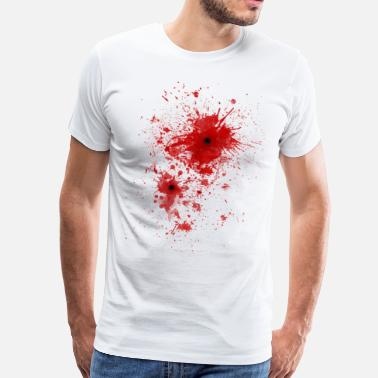 Blood Stained Blood spatter / bullet wound - Costume  - Men's Premium T-Shirt