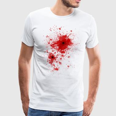 Blood spatter / bullet wound - Costume  - Men's Premium T-Shirt