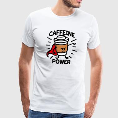 Coffein Power Superhelden Kaffee Liebhaber Cartoon - Männer Premium T-Shirt