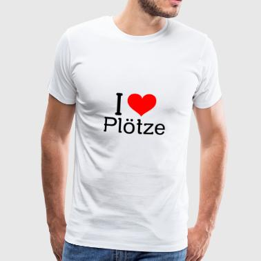 I love Plötze - T-Shirt - The Witcher - Gaming - Männer Premium T-Shirt