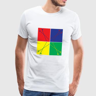 Pop Art Nordic Walking - Men's Premium T-Shirt