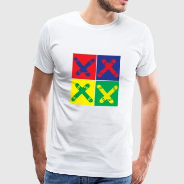 Pop art snowboarding - Men's Premium T-Shirt