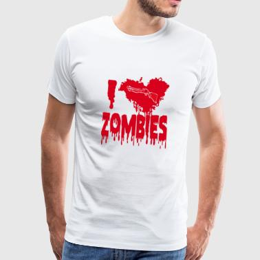 I love zombies - Men's Premium T-Shirt
