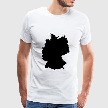 Deutschlandkarte Europa BRD Made in Germany Berlin - Männer Premium T-Shirt