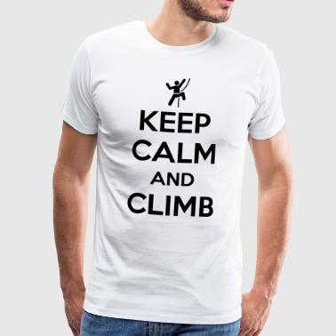 Keep calm and climb - Men's Premium T-Shirt