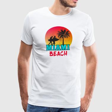 Miami Beach / Retro / Gift / VS. - Mannen Premium T-shirt