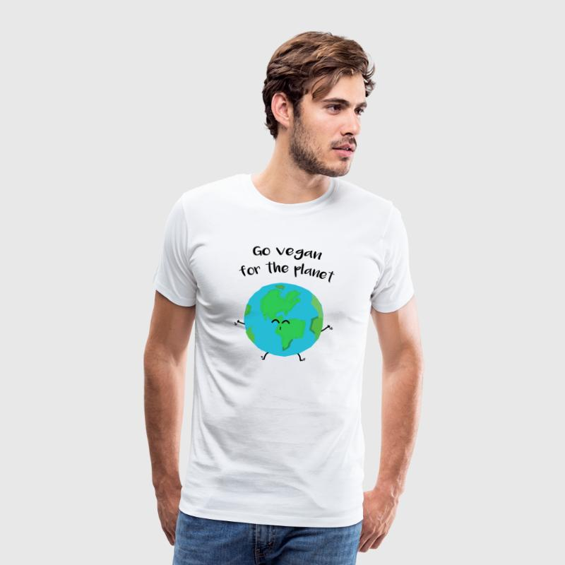 "Vegan for the planet - ""Vegan for the planet"" - Men's Premium T-Shirt"