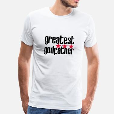 Baptism Greatest Godfather - Men's Premium T-Shirt