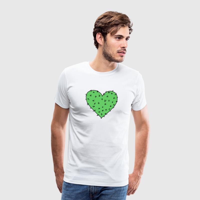 Cactus heart, Free Hugs!, Valentines day, love - Men's Premium T-Shirt